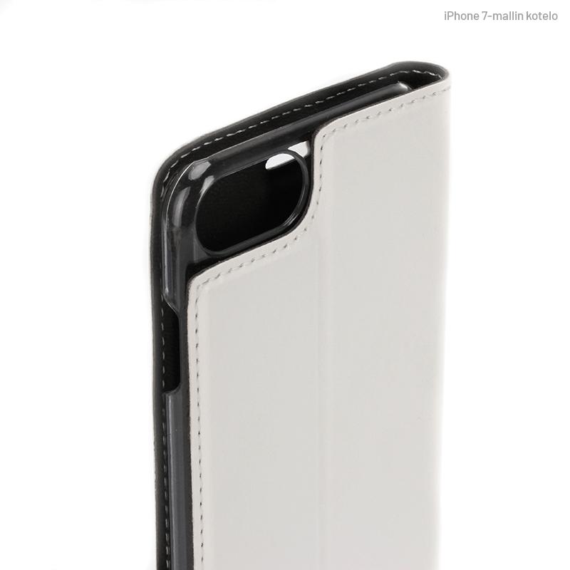 Valkoinen Book Case, Kamera-aukon kohdalta (iPhone 7)