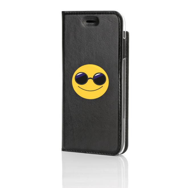 Emoji, Cool Guy, Musta Book Case edestä kuvattuna