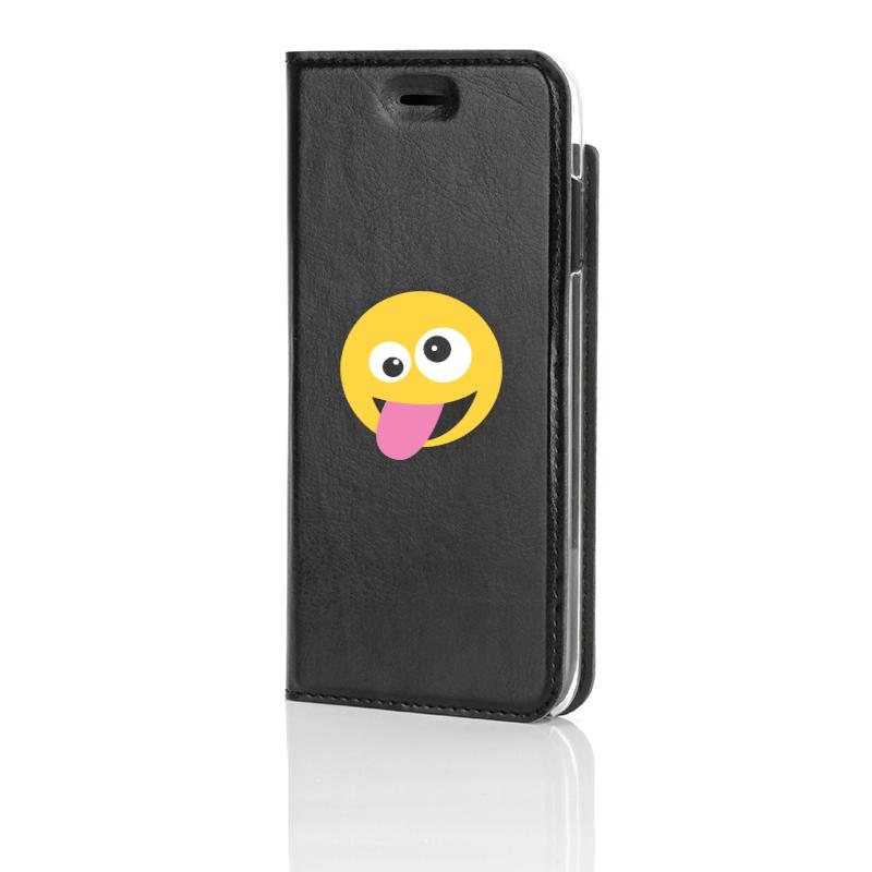 Emoji, Crazyy, Musta Book Case edestä kuvattuna