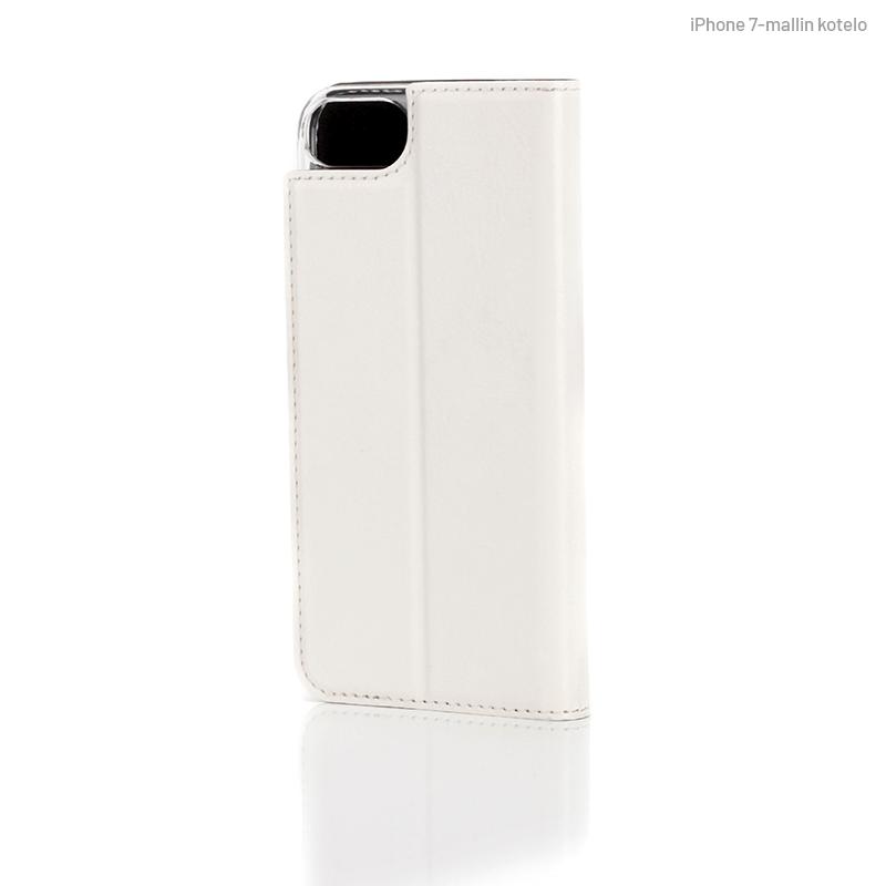 Valkoinen Book Case, takapuolelta (iPhone 7)