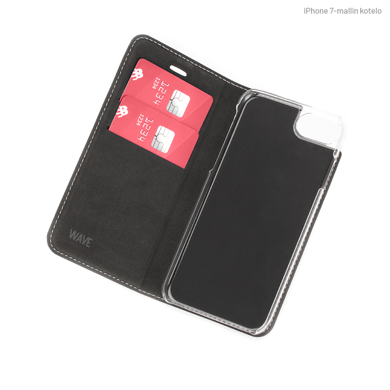 Valkoinen Book Case, sisäpuolelta (iPhone 7)